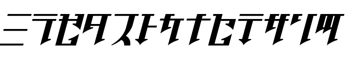 Golgotha Oblique J. Font LOWERCASE
