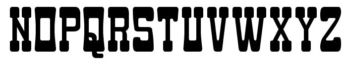 Goma Western Font UPPERCASE