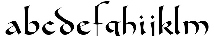 Gondola SD Font LOWERCASE