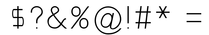 Gondola Font OTHER CHARS