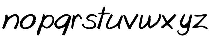 Goobascript Font LOWERCASE