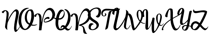 Good Feeling Script Font UPPERCASE