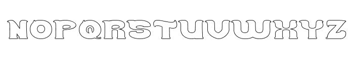 Good Morning-Hollow Font UPPERCASE
