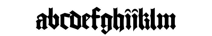 Good Regular Font LOWERCASE