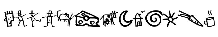 GoodDog-Bones Font UPPERCASE