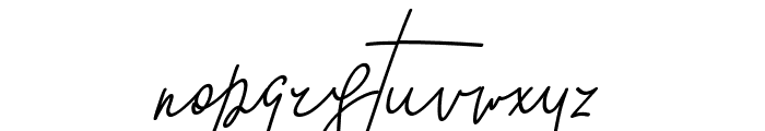 GoodWish Italic Font LOWERCASE
