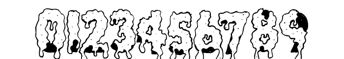 GooeyDrippySticky Font OTHER CHARS