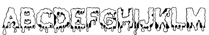 GooeyDrippySticky Font UPPERCASE