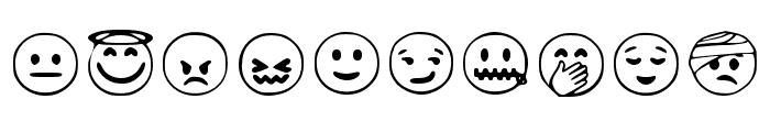 Google Emojis Regular Font OTHER CHARS