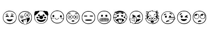 Google Emojis Regular Font UPPERCASE