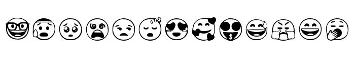 Google Emojis Regular Font LOWERCASE