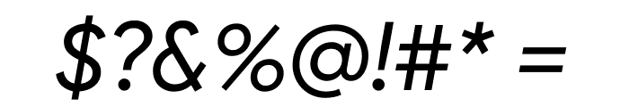 Google Sans Italic Font OTHER CHARS