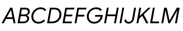 Google Sans Italic Font UPPERCASE
