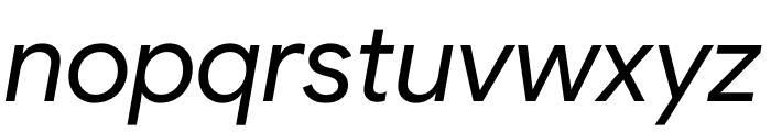 Google Sans Italic Font LOWERCASE