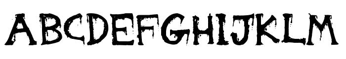 Gorestep Font LOWERCASE