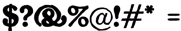 Gorilla Black Font OTHER CHARS
