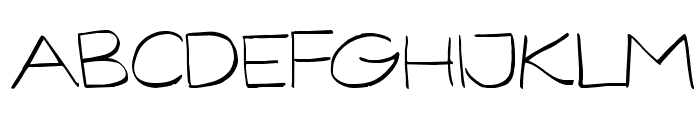 GorillaComix-Light Font UPPERCASE