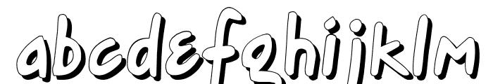Gort's Fair Hand Shadow Font LOWERCASE