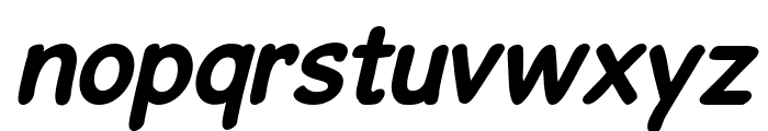 GosmickSansBoldOblique Font LOWERCASE