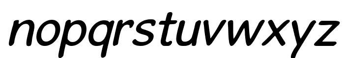 GosmickSansOblique Font LOWERCASE