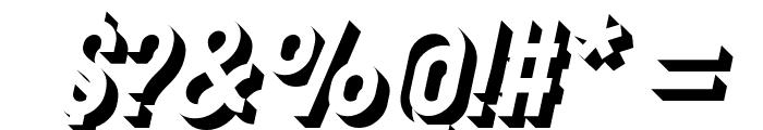 Gotcha Gothic 3D Italic Font OTHER CHARS