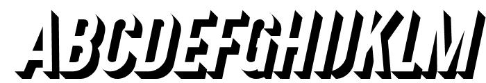 Gotcha Gothic 3D Italic Font UPPERCASE