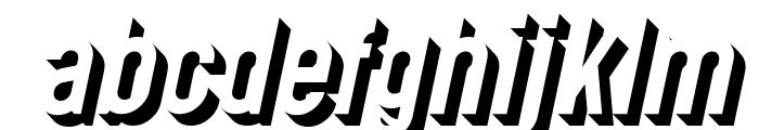 Gotcha Gothic 3D Italic Font LOWERCASE