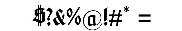 Gotenburg A Bold Font OTHER CHARS