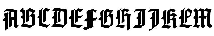 Gotenburg A Bold Font UPPERCASE