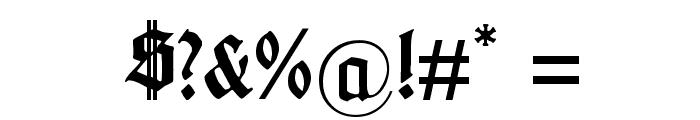 Gotenburg B Bold Font OTHER CHARS