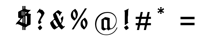 Gotenburg B UNZ_1_L Bold Italic Font OTHER CHARS