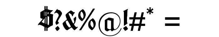 Gotenburg B UNZ_1_L Bold Font OTHER CHARS