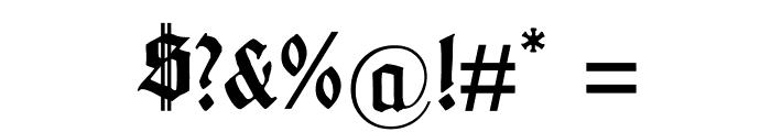 GotenburgA-Bold Font OTHER CHARS