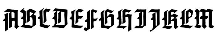 GotenburgA-Bold Font UPPERCASE