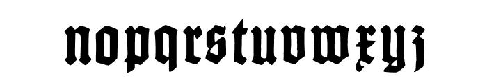 GotenburgA-Bold Font LOWERCASE