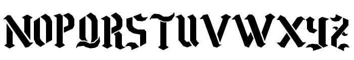 Goth Stencil 2 Font UPPERCASE