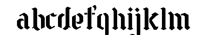 Goth Stencil 2 Font LOWERCASE