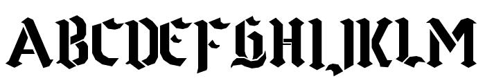 Goth Stencil Font UPPERCASE