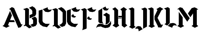 Goth Stencil Font LOWERCASE
