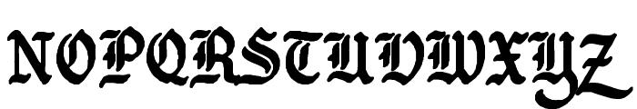 GothBallCrap Bold Font UPPERCASE