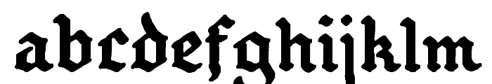 GothBallCrap Bold Font LOWERCASE