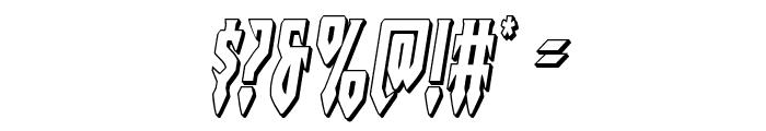 Gotharctica 3D Italic Font OTHER CHARS