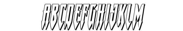 Gotharctica 3D Italic Font UPPERCASE