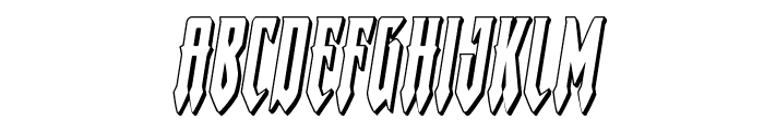 Gotharctica 3D Italic Font LOWERCASE