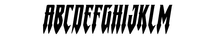Gotharctica Expanded Italic Font UPPERCASE