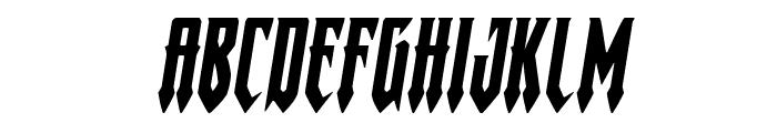 Gotharctica Expanded Italic Font LOWERCASE