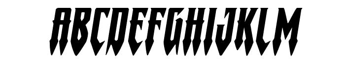 Gotharctica Extra-Expanded Italic Font UPPERCASE