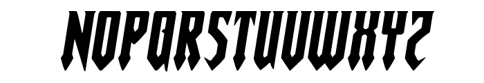 Gotharctica Extra-Expanded Italic Font LOWERCASE