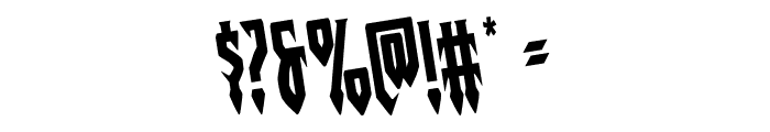 Gotharctica Rotated Font OTHER CHARS