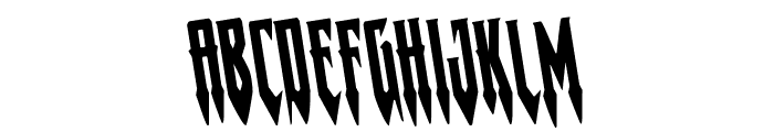 Gotharctica Rotated Font UPPERCASE